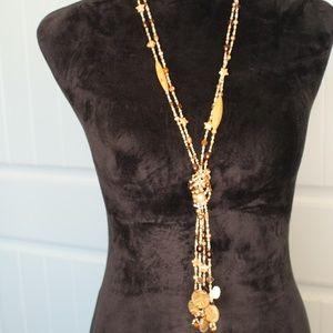 Jewelry - Double stranded Swarovski Crystal w/Stones Lariat